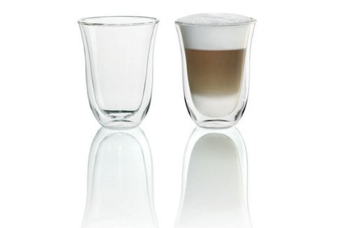 delonghi 5513214611 doppelwandiges thermoglas latte macchiato 2er set - DeLonghi 5513214611 Doppelwandiges Thermoglas (Latte Macchiato) 2er Set