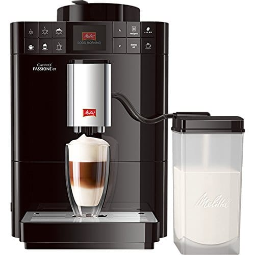 melitta caffeo passione ot f53 1 102 kaffeevollautomat one touch funktion milchbehaelter schwarz - Melitta Caffeo Passione OT F53/1-102, Kaffeevollautomat, One-Touch-Funktion, Milchbehälter, Schwarz