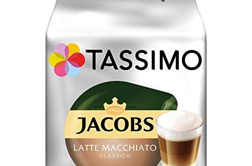 Tassimo Kapseln Jacobs Typ Latte Macchiato Classico 40 Kaffeekapseln 5er 500x330 - Tassimo Kapseln Jacobs Typ Latte Macchiato Classico, 40 Kaffeekapseln, 5er Pack, 5 x 8 Getränke