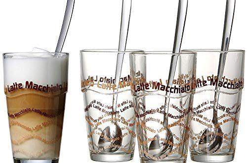 Ritzenhoff Breker Latte Macchiato Glaeser Set 8 teilig mit Loeffel 500x330 - Ritzenhoff & Breker Latte Macchiato Gläser-Set, 8-teilig mit Löffel