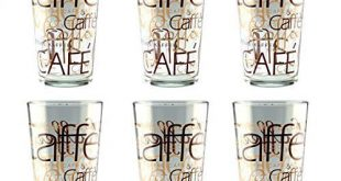 6er Set Latte Macchiato Glas 39cl stapelbar Coffee Dekor 310x165 - 6er Set Latte Macchiato Glas 39cl stapelbar Coffee Dekor