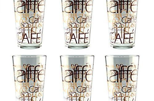 6er Set Latte Macchiato Glas 39cl stapelbar Coffee Dekor 500x330 - 6er Set Latte Macchiato Glas 39cl stapelbar Coffee Dekor