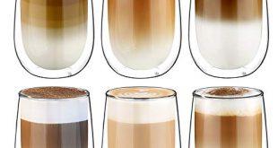 Glastal Doppelwandige Latte Macchiato Glaser Set Kaffeeglas Trinkglaeser 6 teiliges 350ml 310x165 - Glastal Doppelwandige Latte Macchiato Glaser Set Kaffeeglas Trinkgläser 6-teiliges 350ml (Volle Kapazität)