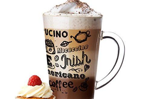 Sendez 6 Latte Macchiato Glaeser 300ml und 6 Edelstahl Loeffeln gratis 470x330 - Sendez 6 Latte Macchiato Gläser 300ml und 6 Edelstahl-Löffeln (gratis) Kaffee-Aufdruck
